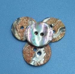28L Dyed Smoke Grey Australian Abalone Shell Buttons Nacre Botones