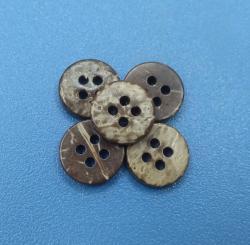 Natural Wood Eco Friendly Rustic Coconut Sewing Buttons Botones de Coco