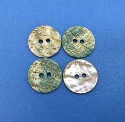Wholesale Natural Green Abalone Oyster Shell Buttons with Rainbow Effect